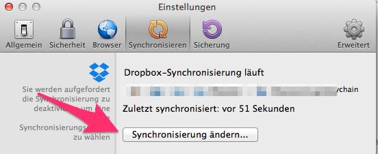 Synchronisierung ändern...