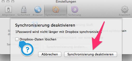 Synchronisiertung deaktivieren. Auf Wunsch mit Löschung der DB-Daten. Ich hab es ohne löschen gemacht.